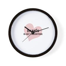 Darius Is My Valentine Wall Clock