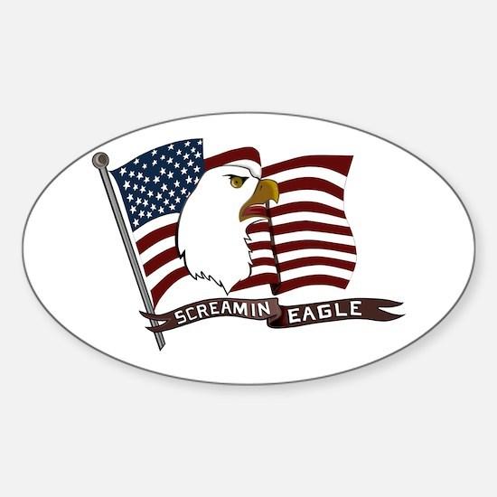 Screamin Eagle Sticker (Oval)
