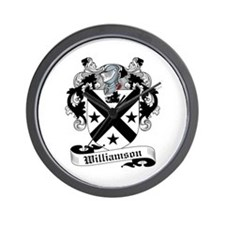 Williamson Family Crest Wall Clock