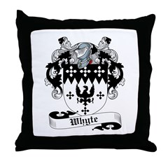 Whyte Coat of Arms Throw Pillow