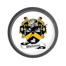 Whitelaw Family Crests Wall Clock