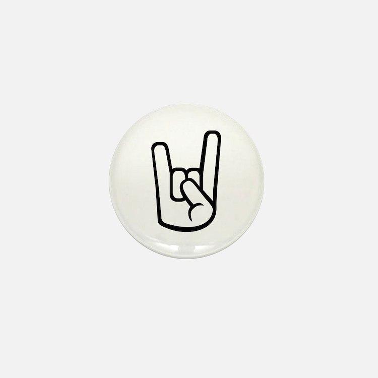 Rock Hand Mini Button
