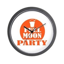 Full Moon Party Wall Clock