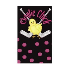 Goalie Chick Rectangle Decal