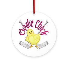 Goalie Chick Ornament (Round)
