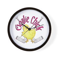 Goalie Chick Wall Clock