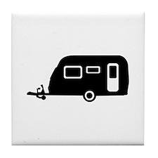 Caravan - trailer Tile Coaster