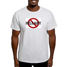 Anti-Hillary Ash Grey T-Shirt