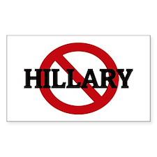 Anti-Hillary Rectangle Decal