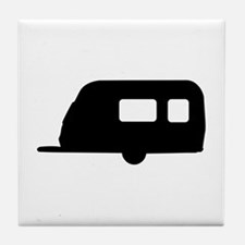 Trailer - camping Tile Coaster