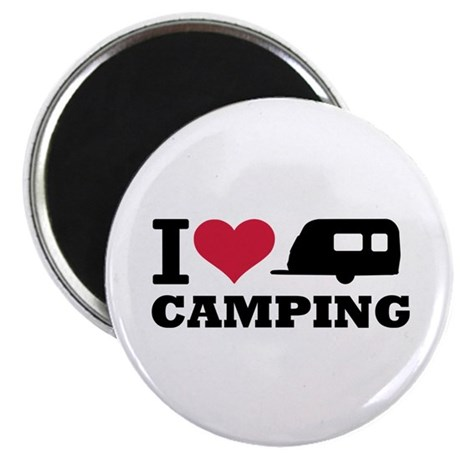 """I love camping 2.25"""" Magnet (10 pack)"""