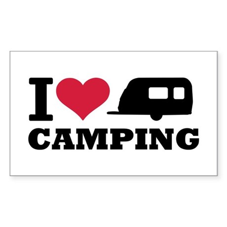 I love camping Sticker (Rectangle)