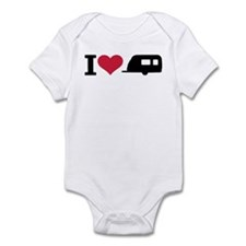 I love camping - trailer Infant Bodysuit