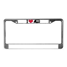I love camping - trailer License Plate Frame