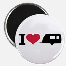 I love camping - trailer Magnet