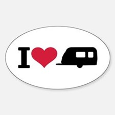 I love camping - trailer Bumper Stickers