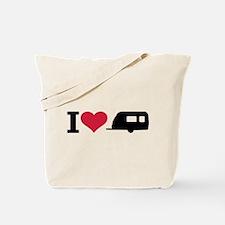 I love camping - trailer Tote Bag