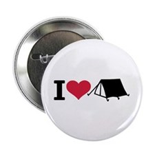 """I love camping - tent 2.25"""" Button"""
