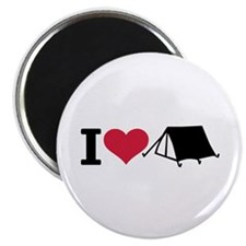 I love camping - tent Magnet