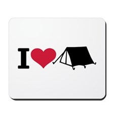 I love camping - tent Mousepad