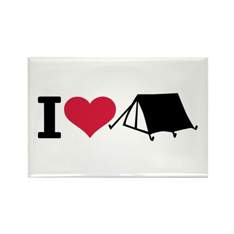 I love camping - tent Rectangle Magnet (10 pack)
