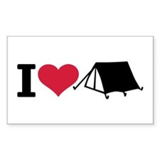 I love camping - tent Decal