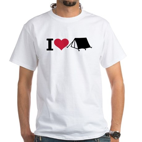 I love camping - tent White T-Shirt