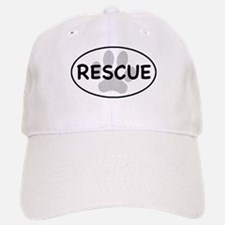 Rescue Paw White Oval Baseball Baseball Cap