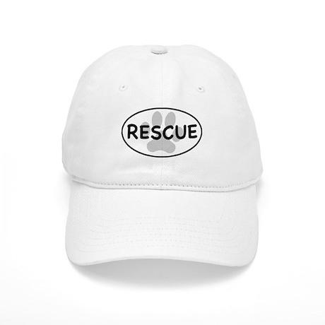Rescue Paw White Oval Cap