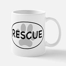 Rescue Paw White Oval Mug