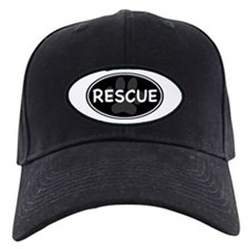 Rescue Paw Black Oval Baseball Hat