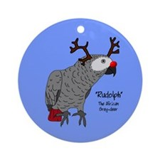 African Grey Reindeer Ornament