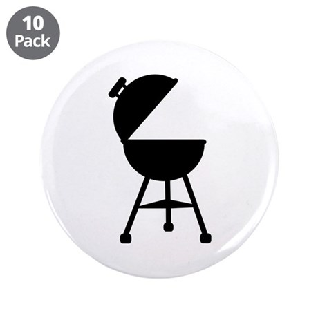 """BBQ - Barbecue 3.5"""" Button (10 pack)"""