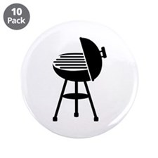 """BBQ - Grill 3.5"""" Button (10 pack)"""