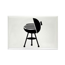 BBQ - Grill Rectangle Magnet (100 pack)