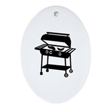 BBQ - Barbecue Ornament (Oval)
