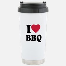 I love BBQ - Barbecue Stainless Steel Travel Mug