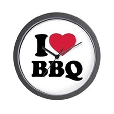I love BBQ - Barbecue Wall Clock
