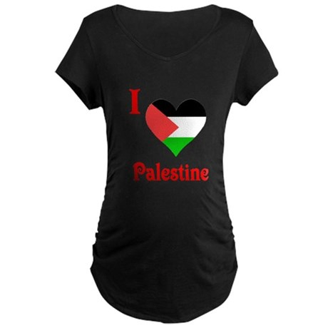 I Love Palestine #5 Maternity Dark T-Shirt