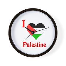 I Love Palestine #5 Wall Clock
