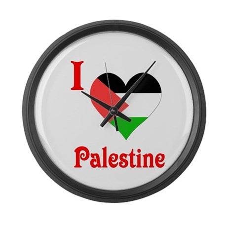 I Love Palestine #5 Large Wall Clock