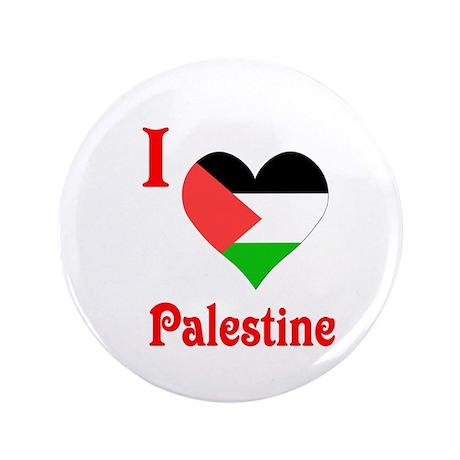 """I Love Palestine #5 3.5"""" Button"""
