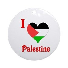 I Love Palestine #5 Ornament (Round)