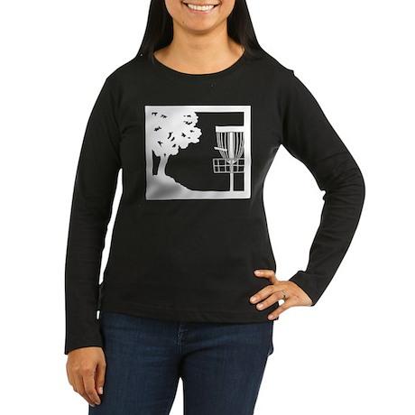 Disc Golf Women's Long Sleeve Dark T-Shirt