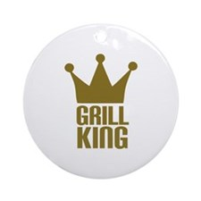 BBQ - Grill king Ornament (Round)