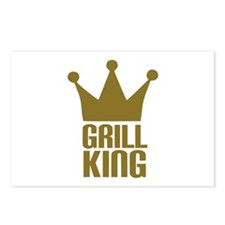 BBQ - Grill king Postcards (Package of 8)