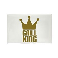 BBQ - Grill king Rectangle Magnet