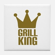 BBQ - Grill king Tile Coaster