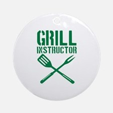 BBQ - Grill Instructor Ornament (Round)