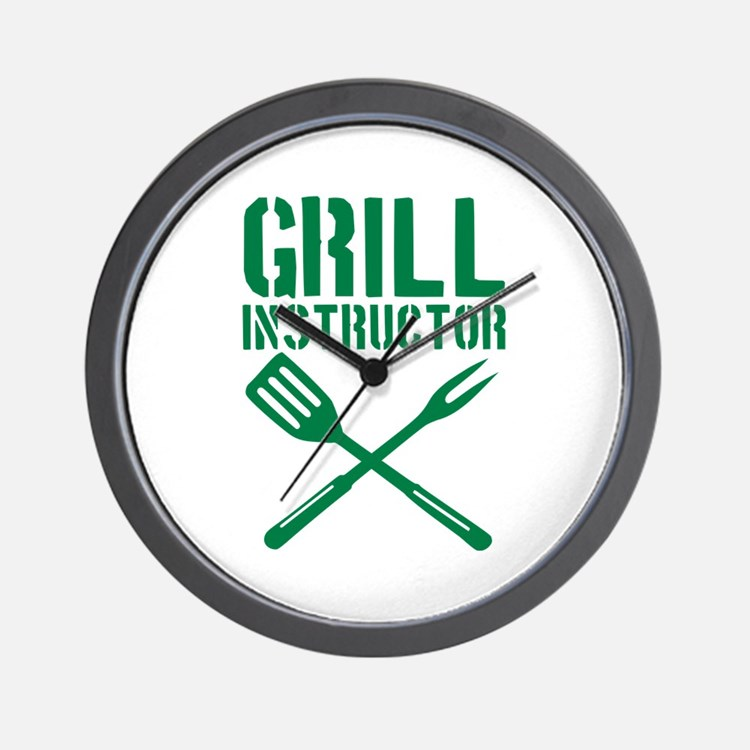BBQ - Grill Instructor Wall Clock